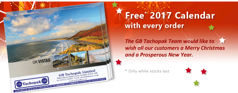 Free 2017 Calendar with every order while stocks last